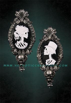 Gothic Victorian Set Cameo (Silver)