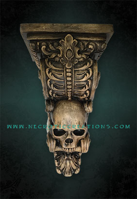 skull corbel frnt antique