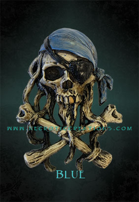 mini pirate skull 2 blue