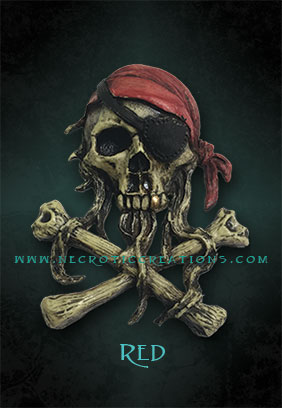 mini pirate skull 2 red