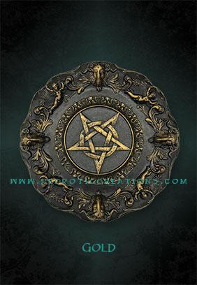 pentacle plaque gold