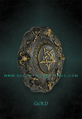 pentacle plaque gold side