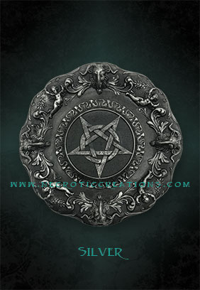 pentacle plaque silver