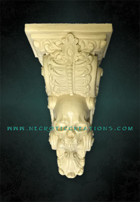 skull corbel frnt unfinished