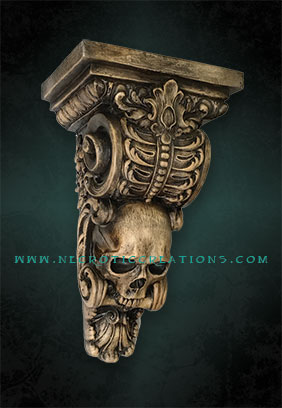 skull corbel side antique